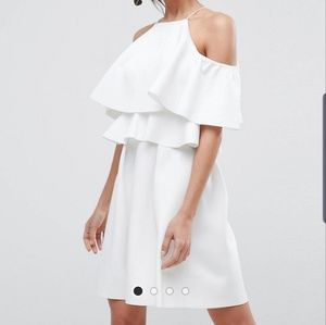 ASOS cold shoulder skater dress